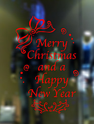 Wall Stickers Wall Decals Style Merry Christmas And A Happy New Year PVC Window stickers