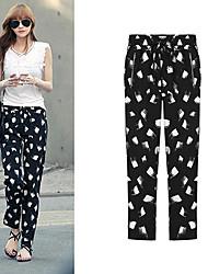 Pantalones ( Algodón )- Casual Corte Ancho para Mujer