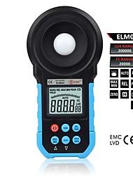 bside elm02 luxímetro medidor digital de luz luminômetro automático e manual do intervalo de 0 ~ 200 mil lux