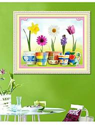 DIY-Kit Kreuzstich, Blumen 71 * 56