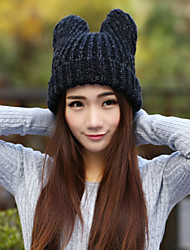 Women Knitwear Bear Ear Beanie/Slouchy , Vintage / Cute / Casual Winter