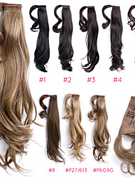 """Wrap Around 18"""" Straight Synthetic Ponytail Pony Hair Extensions Hair wigs Pieces,1 Piece,63g,Blonde Mix Ty.Hermenlisa"""