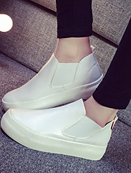 Women's Shoes Nappa Platform Platform / Creepers / Round Toe Loafers / Slip-on Outdoor / Casual Black / White