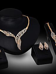 Alisa    18 k Gold diamond jewelry luxury fashion women suit(necklace Earrings ring bracelet)
