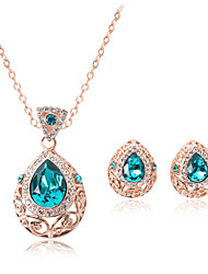 Women Vintage Silver Plated Necklace / Earrings Sets