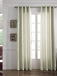 TWOPAGES® Tom Collection Solid Faux Silk Polyester Panel Curtain One Panel