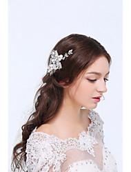 Women's Silver / Alloy / Imitation Pearl / Cubic Zirconia Headpiece - Wedding / Special Occasion Hair Clip 1 Piece