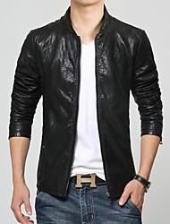 Men's leather jacket Korean Slim Jacket M-5XL