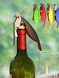 Parrot Shape Corkscrew Wine Opener Multifunction Bottle Opener (Random Color)