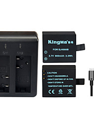 KingMa Backup  Rechargable Battery+Dual USB Charger For SJ4000 SJ5000 SJ6000