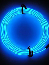 Neon LED Light Glow EL Wire String Strip Rope Tube Car Bar Dance Party Decoration with 3V Battery Control
