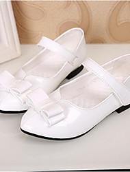 Girls' Shoes Casual Pointed Toe Patent Leather Flats Black / White