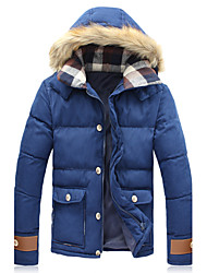 Uonuode Man'S Korean Fur Collar Coat Thick Padded Coat Big Yards
