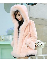 Lina Woman'S Genuine Fox Fur And Long Sections Rex Fur Pocket Integral Skin Control