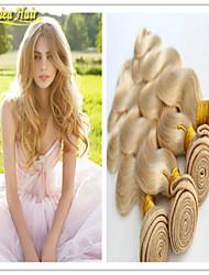 3 unidades / lote # 613 loira cabelo virgem 100g / pcs loiro extensões de cabelo humano vendem barato não transformados virgem loira de