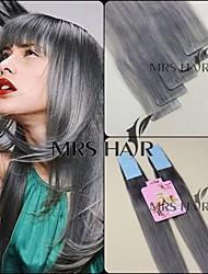 50 ℃ gris 20 pulgadas de cinta brasileño en 20pc pelo / 2.5g set / pc extensión del pelo humano remy virginal no vendida naturales