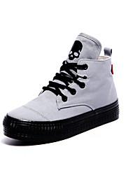Women's Shoes Canvas Platform Platform/Comfort/Round Toe Fashion Sneakers Outdoor/Casual Black/Light Blue/White/Gray