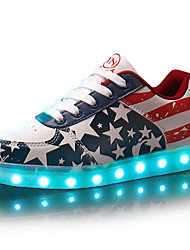 Men's Shoes Outdoor / Casual / Athletic / Party & Evening Leatherette Fashion Sneakers / Athletic Shoes Blue / Red