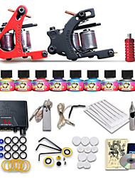 beginner tatoeage starterkits 2 machines 10 inktsets boven usa tattoo ink