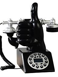 nouveauté geste européen de la main de la mode téléphone antique avec identification de l'appelant