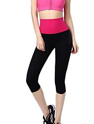 Katuo® Mulheres Corrida Calças 3/4 calças justas Cropped Materiais Leves Primavera Ioga Pilates Exercício e Atividade Física Cor Única