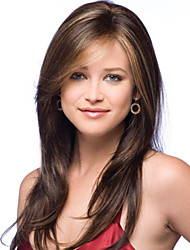 nouvelle dame de la mode soie perruques populaires de cheveux à haute température peuvent être très chaude peut être teint image couleur