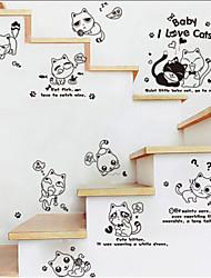 stile sveglio gatto birichino decorazione adesivi murali piano di parete di modo, estraibile in pvc
