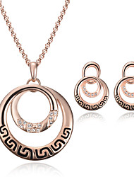 GoldFoucs Women Gold-plated 2in1 Party/Casual Alloy/Crystal/Cubic Zirconia Necklace/Earrings Sets
