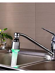 luz luminiscente grifo de agua verde ducha grifo de la cocina resplandor llevado