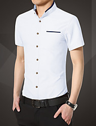 Men's Short Sleeve Shirt Mens business casual China summer summer wind slim suit Metrosexual Mens