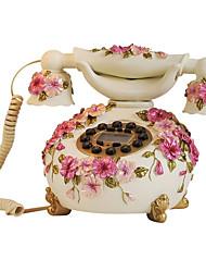 la nouveauté de la mode européenne Viola tricolor rurale téléphone filaire antique