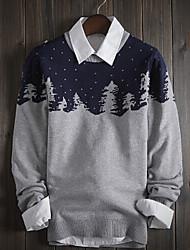 Men's Print Pullover , Knitwear Long Sleeve