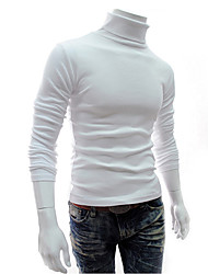 Men's High-Neck T-Shirts , Cotton Long Sleeve Casual Winter/Fall Wshgyy