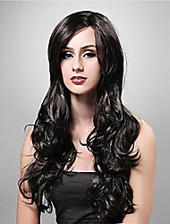 Long High Quality Synthetic Natural Look Black Curly Hair Wig