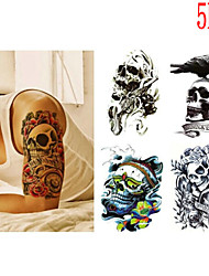 (5PCS) 2016  High Quality Creative Fashion Waterproof Skull