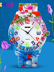 SKMEI® Women's Crystal Case Flower Pattern Alloy Wrist Watch