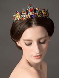 Donne Lega Copricapo-Matrimonio Tiare 1 pezzo Multicolore Irregolare