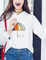 Women's Hooded Printing Fashion Sweatshirts