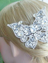 Bridal Hair accessory Wedding Hair Comb Silver-tone Rhinestone Butterfly Hair Comb Bridal Hair Comb Wedding Headpiece