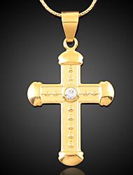 Bettr 18K Gold Vacuum Plating Gold Retro European Pendant Necklace(Mosaic Zircon)