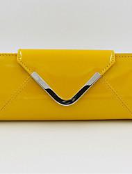 Women PU Minaudiere Clutch / Evening Bag - Yellow