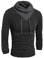 Men's Turtle Neck Sweaters , Cotton Blend Long Sleeve Casual Fashion Winter / Fall HD