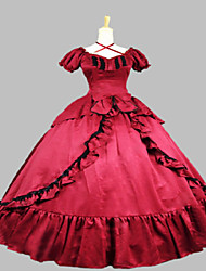Steampunk®Victorian Red Satin Civil War Southern Belle Prom Dress Ball Gown