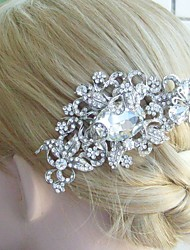 Bridal Hair accessory Wedding Hair Comb 4.13 Inch Silver-tone Rhinestone Crystal Flower Hair Comb Bridal Hair Comb
