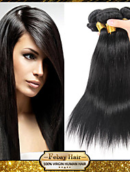 Peruvian Virgin Hair Straight 12 14 16 18 20 22 24 26 28 30 Inch 4pcs/lot 100g/pcs Rosa Hair 100% Human Hair