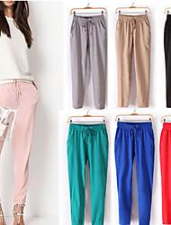 DONNE - Pantaloni - Informale / Lavoro A vita medio-alta - Largo Cotone