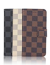 iphone 7 плюс 4,7-дюймовый образец сетки высокого качества роскошный бумажник PU кожаный чехол для Iphone 6с 6 плюс