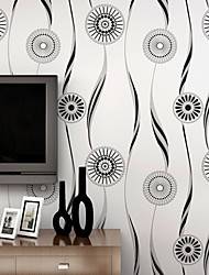 Contemporary Wallpaper Art Deco 3D Sun Flower Wallpaper Wall Covering Non-woven Fabric Wall Art