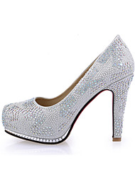 Women's Shoes  Chunky Heel Heels/Round Toe Pumps/Heels Wedding/Party & Evening/Dress Pink/Silver