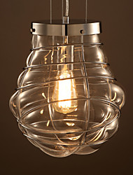 Retro Industrial Style Simple Creative Design Pendant Light Made with Iron Light And Glass Lampshade